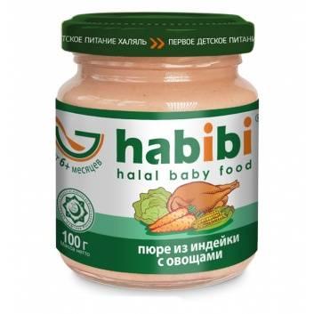 Питание, Пюре Индейка с овощами 100 гр HABIBI 227967, фото