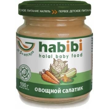 Питание, Пюре Овощной салатик 100 гр HABIBI , фото