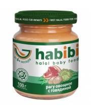 Пюре Рагу овощное с говядиной 100 гр HABIBI