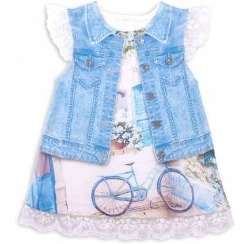 Малыши, Платье Fashion Jeans Папитто (голубой)239081, фото
