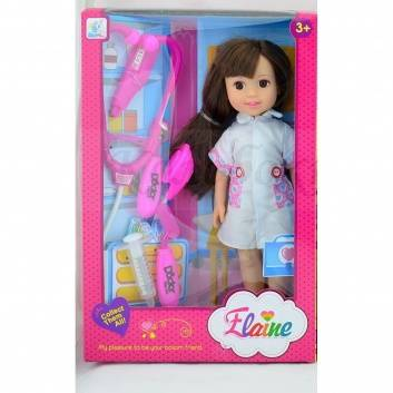 Ликвидация, Кукла Jelena медсестра с аксессуарами S+S Toys 228792, фото
