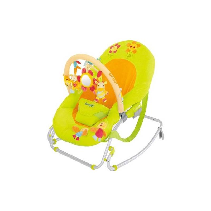 Кресло-качалка SwingnSleep 549/115Кресло-качалка салатового цвета Brevi SwingnSleep 549/115<br>Сиденье и спинка выполнены из набивной ткани,имеют пятьнезависимых положений. Благодаря специальным складывающимся ножкам, кресло-качалкуможно фиксировать. Съемный чехол из ткани можно стирать при температуре 30°С.<br>Кресло-качалкаоборудовано ремешком безопасности и бретелями для транспортировки. В сложенном состоянии занимает мало места.<br><br>Цвет: Зеленый<br>Возраст от: 0 месяцев<br>Пол: Не указан<br>Артикул: 628560<br>Страна производитель: Италия<br>Бренд: Италия<br>Размер: от 0 до 12 месяцев