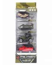 Набор машин военный 4 шт