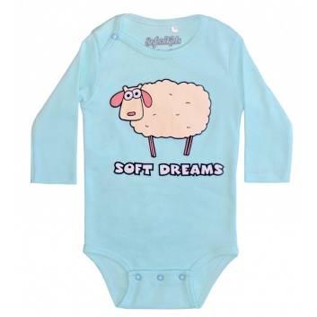 Малыши, Боди Soft dreams Safari Kids (бирюзовый)242221, фото