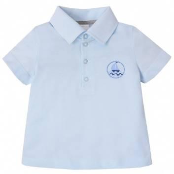 Малыши, Рубашка-поло Мамуляндия (голубой)240140, фото