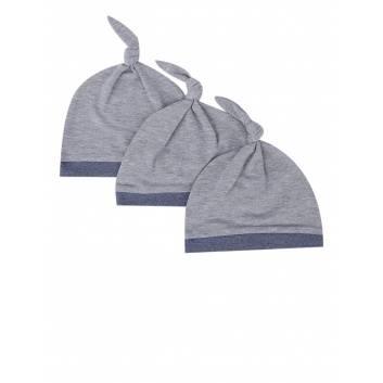 Малыши, Комплект шапок 3 шт Goldy (серый)256297, фото