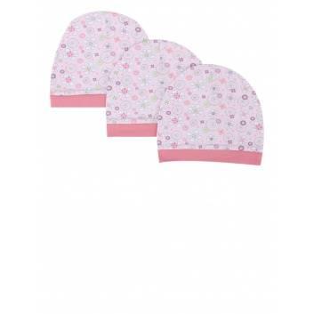 Аксессуары, Комплект шапок 3 шт Goldy (розовый)256103, фото