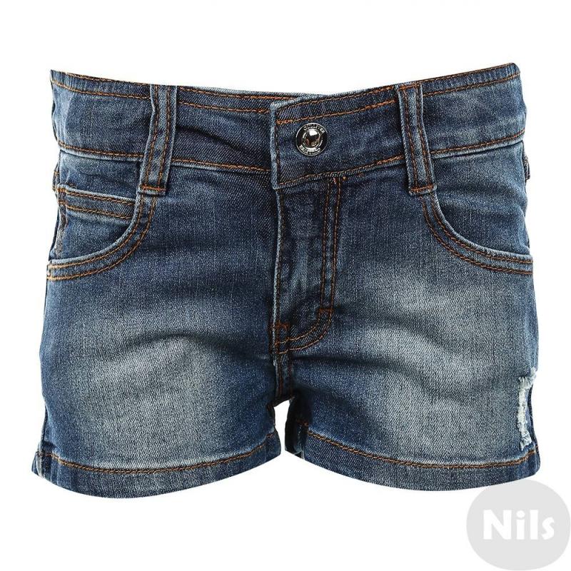 ШортыДжинсовые шорты синего цвета марки Gulliver для девочек. Короткие шорты выполнены из хлопка с добавлением эластана, имеют три кармана спереди и два кармана сзади; застегиваются на молнию и крючок.<br><br>Размер: 4 года<br>Цвет: Синий<br>Рост: 104<br>Пол: Для девочки<br>Артикул: 626947<br>Страна производитель: Китай<br>Сезон: Весна/Лето<br>Состав: 98% Хлопок, 2% Эластан<br>Бренд: Россия