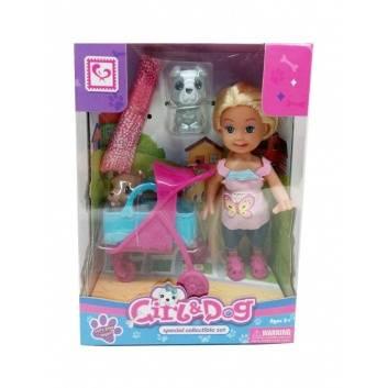 Игрушки, Кукла с собачкой и аксессуарами S+S Toys 245199, фото