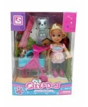 Кукла с собачкой и аксессуарами S+S Toys