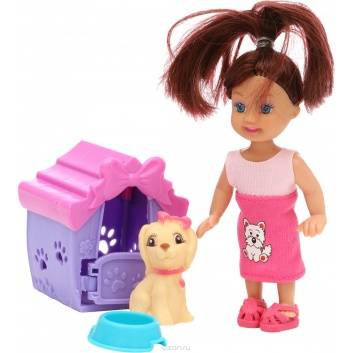 Ликвидация, Кукла с собачкой в будке S+S Toys 245127, фото