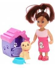 Кукла с собачкой в будке S+S Toys
