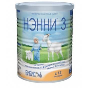 Питание, Сухой молочный напиток НЭННИ 3 на основе козьего молока от 12 месяцев 400 г Нэнни 258805, фото