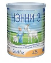 Сухой молочный напиток Нэнни 3 на основе козьего молока от 12 месяцев 400 г Бибиколь
