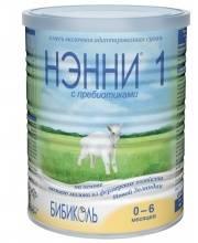 Молочная смесь НЭННИ 1 на козьем молоке гипоаллергенная 0-6 месяцев 400 г Нэнни