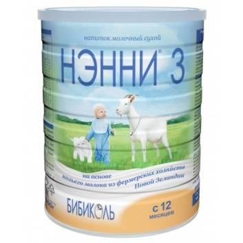 Питание, Сухой молочный напиток НЭННИ 3 на основе козьего молока от 12 месяцев 800 г Нэнни 258811, фото