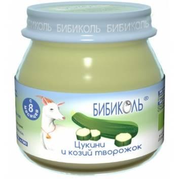 Питание, Овощное Organic-пюре Цукини и козий творожок 80 г Бибиколь 258823, фото