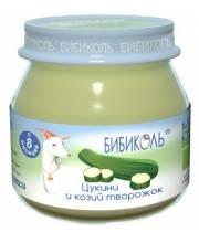 Овощное Organic-пюре Цукини и козий творожок 80 г Бибиколь