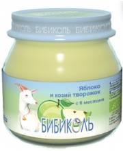 Фруктовое Organic-пюре Яблоко и козий творожок 80 г Бибиколь