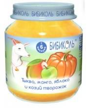 Фруктово-овощное Organic-пюре Тыква манго яблоко и козий творожок 125 г Бибиколь