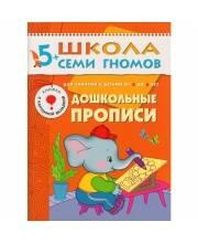 Школа Семи Гномов Шестой год обучения Дошкольные прописи Денисова Д.