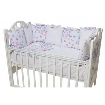d3d9b0a5de6 Малыши, Комплект бортиков в кроватку La Papillon Rose Ma Licorne (розовый),  фото