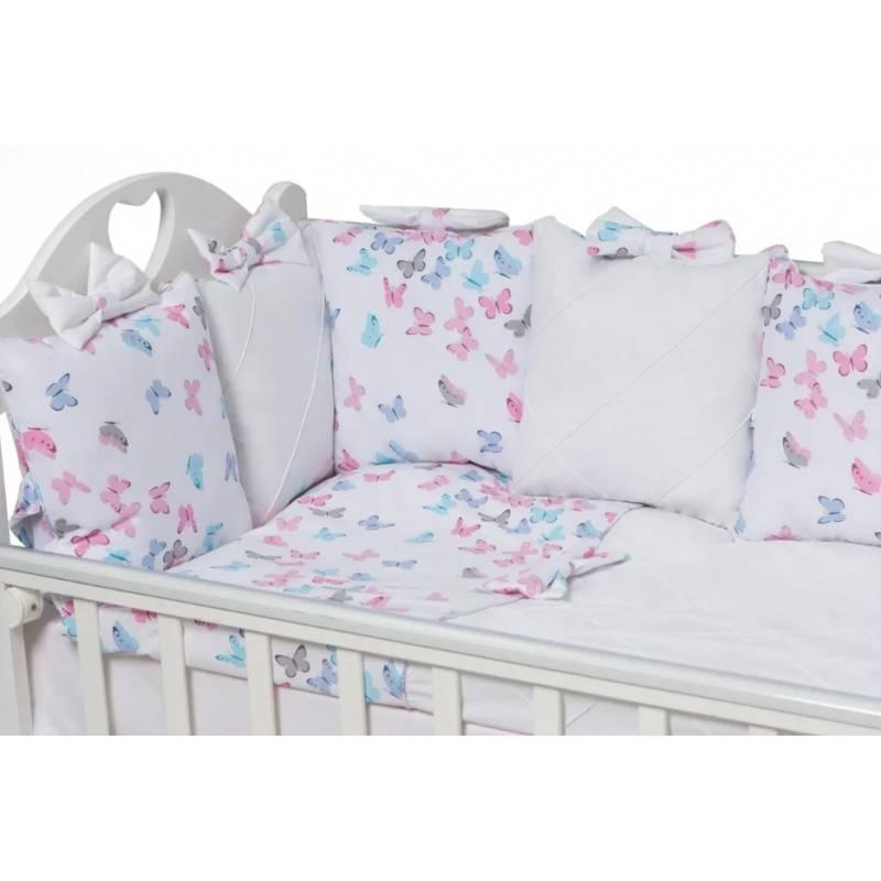 298f9b13658 ... Малыши, Комплект бортиков в кроватку La Papillon Rose Ma Licorne  (розовый), фото ...