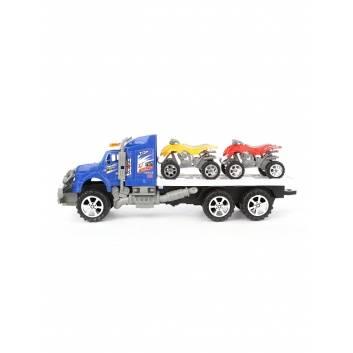 Ликвидация, Автовоз с машинами инерционный S+S Toys 245032, фото