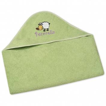 Малыши, Полотенце с капюшоном Pecorella (зеленый)259900, фото
