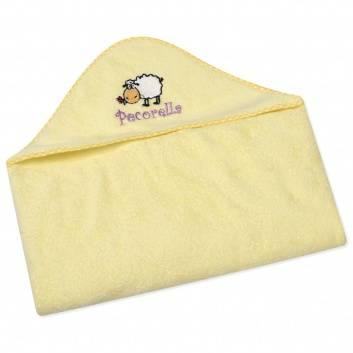 Малыши, Полотенце с капюшоном Pecorella (желтый)259901, фото