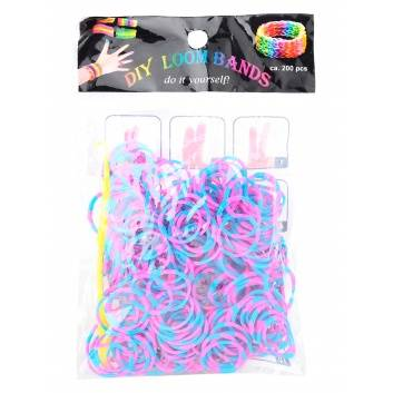 Творчество, Резинки для плетения Двуцветные Loom Bands 229165, фото