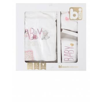 Малыши, Подарочный набор 5 предметов BIBABY (розовый)237800, фото