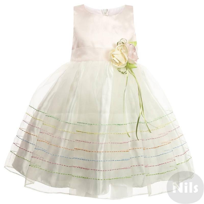 ПлатьеНарядное платье нежно-розового цвета марки LP Collection для девочек. Платье без рукавов выполнено из сатина с верхним слоем из полупрозрачной органзы. Подкладка сшита из натурального хлопка. Платье украшено цветной декоративной строчкой на подоле, а также объемной розой с лентами на поясе. Сзади платье застегивается на молнию, талия регулируется пышным бантом.<br><br>Размер: 7 лет<br>Цвет: Розовый<br>Рост: 122<br>Пол: Для девочки<br>Артикул: 628928<br>Страна производитель: Таиланд<br>Сезон: Всесезонный<br>Состав: 55% Хлопок, 45% Полиэстер<br>Бренд: Таиланд<br>Вид застежки: Молния