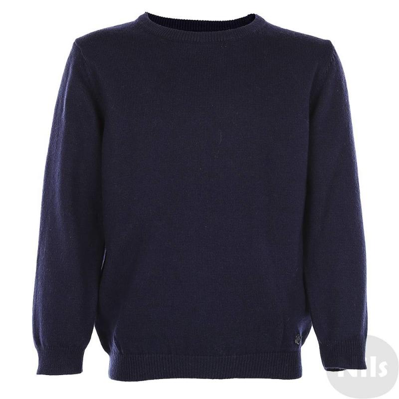 СвитерТемно-синийсвитер марки Mayoral для мальчиков. Классический однотонный свитер с круглым вырезом воротничка выполнен из смешанного трикотажа с добавлением шерсти. Свитер мягкий на ощупь, спереди украшен фирменным логотипом.<br><br>Размер: 3 года<br>Цвет: Темносиний<br>Рост: 98<br>Пол: Для мальчика<br>Артикул: 626184<br>Страна производитель: Камбоджа<br>Сезон: Осень/Зима<br>Состав: 50% Хлопок, 45% Полиамид, 5% Шерсть<br>Бренд: Испания