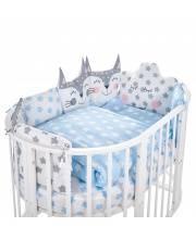 Комплект в овальную кроватку Gioia Blu 5 предметов Sweet Baby
