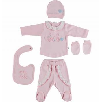 Малыши, Подарочный набор 5 предметов BIBABY (розовый)237795, фото