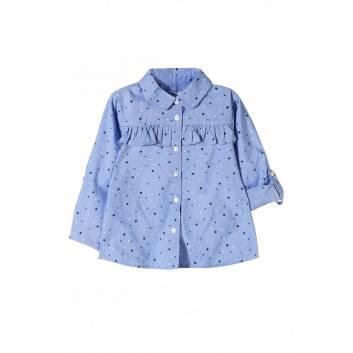 Девочки, Рубашка 5.10.15. (голубой)270310, фото