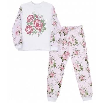 Малыши, Пижама Розы Funny Baby (белый)185889, фото