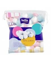 Шарики ватные цветные Cotton 100 шт Bella