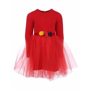 Девочки, Платье Limasole (красный)263101, фото