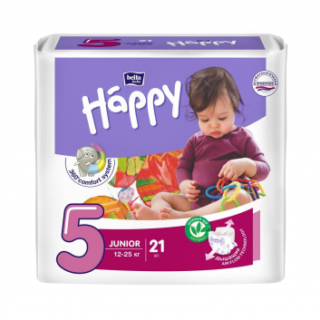 Гигиена, Подгузники Junior 21 шт 12-25 кг Bella Happy 271271, фото