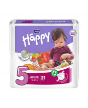 Подгузники Junior 21 шт 12-25 кг Bella Happy