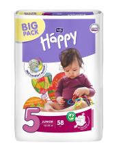 Подгузники Junior 58 шт 12-25 кг Bella Happy