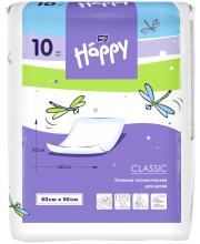 Одноразовые пелёнки для детей Baby Happy classic 60х60 10 шт