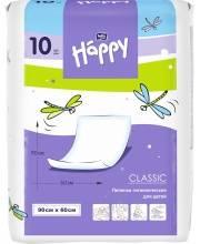 Одноразовые пелёнки для детей Baby Happy classic 90x60 10 шт