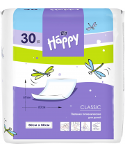 Одноразовые пелёнки для детей Baby Happy classic 60х60 30 шт