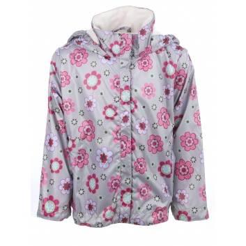 Девочки, Ветровка Цветик URSINDO (серый)261404, фото