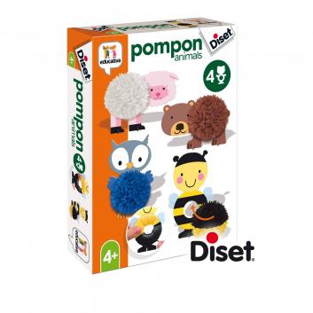 Игрушки, Набор для творчества помпоны Животные Diset 269135, фото