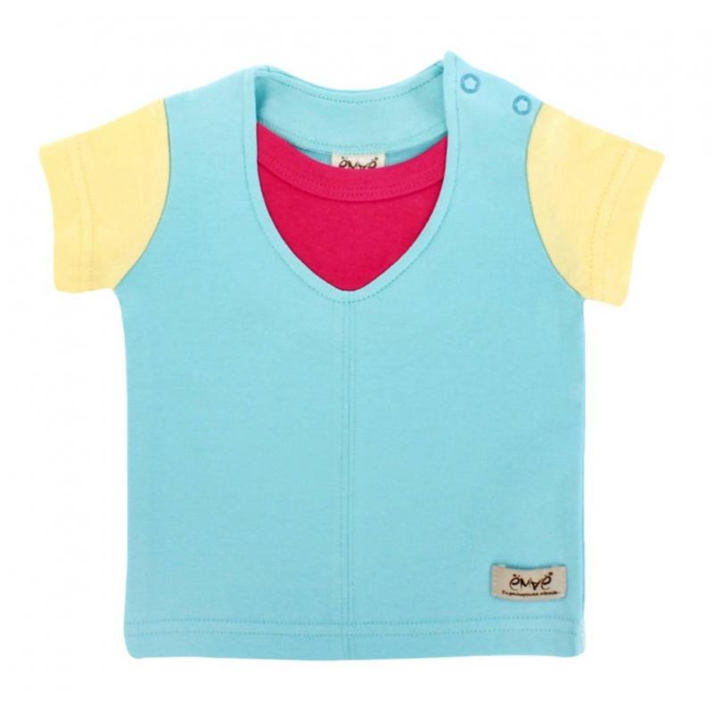 ФутболкаФутболка голубогоцвета марки Ёмаё длядевочек.Футболка скоротким рукавом выполнена из хлопкового трикотажа. Вставка малинового цвета, а также декоративный шов спереди создают эффект многослойности. Для удобства переодевания футболка застегивается на кнопки на плече.<br><br>Размер: 6 месяцев<br>Цвет: Голубой<br>Рост: 68<br>Пол: Для девочки<br>Артикул: 630138<br>Страна производитель: Россия<br>Сезон: Всесезонный<br>Состав: 100% Хлопок<br>Бренд: Россия