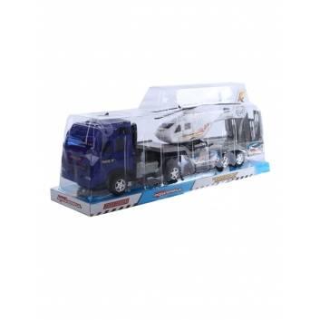 Игрушки, Автовоз с вертолетом инерционный S+S Toys 245036, фото